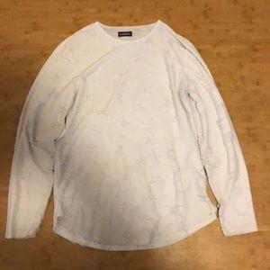 Long sleeve tattered shirt